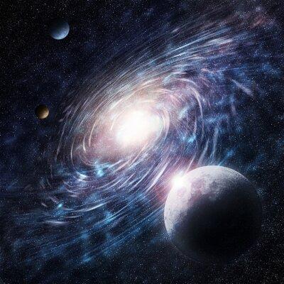 Quadro Galaxy blu creativo