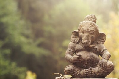Quadro Ganesha statue divinità di pietra