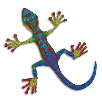 Quadro Gecko lucertola