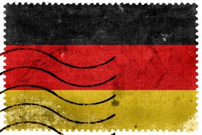 Quadro Germany Flag - old postage stamp