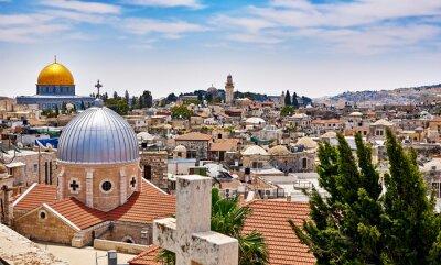 Quadro Gerusalemme vista panoramica sul tetto