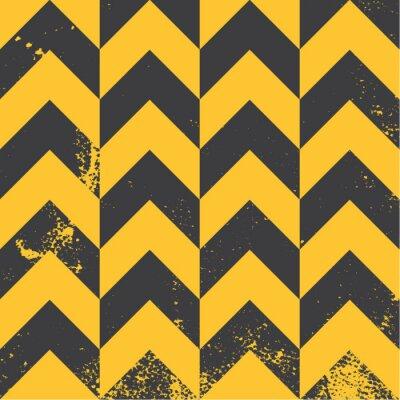 Quadro giallo modello chevron con trama in difficoltà