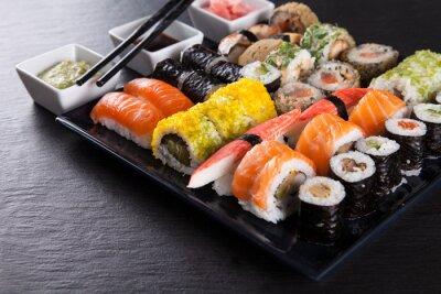 Quadro Giapponese set seafood sushi
