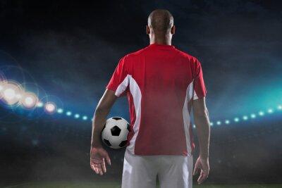 Quadro Giocatore con pallone da calcio