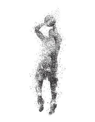 Quadro giocatore di basket, silhouette