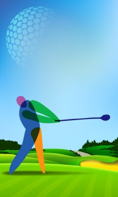 Quadro Giocatore di golf sul campo da golf
