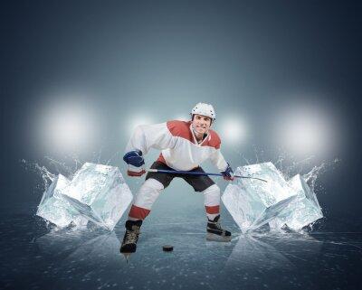 Quadro Giocatore di hockey con cubetti di ghiaccio