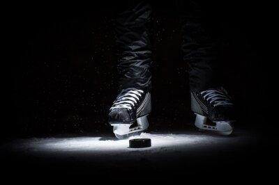 Quadro Giocatore di hockey. Gambe solo vista