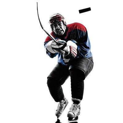 Quadro Giocatore di hockey su ghiaccio silhouette te