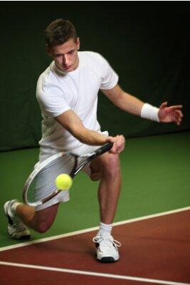 Quadro Giovane che gioca a tennis