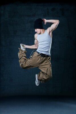 Quadro Giovane hip-hop dancer salto