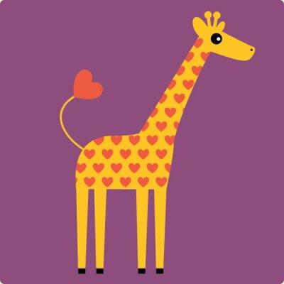 Quadro giraffa vettore