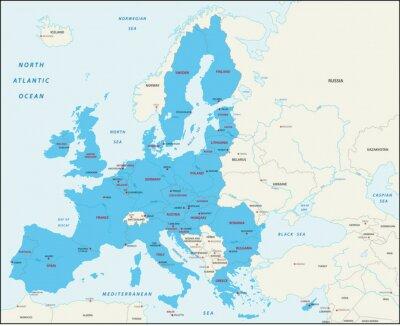 Quadro Gli Stati membri della Unione Europea mappa