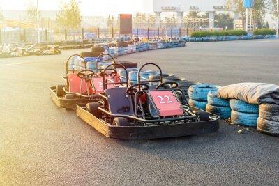 Quadro Go-kart nel parco sulla pista di kart
