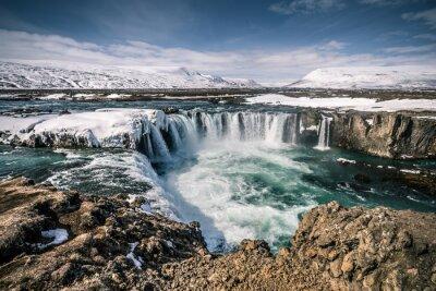 Quadro Godafoss cascata in Islanda