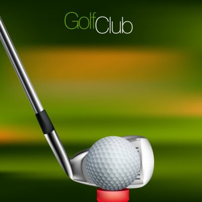 Quadro Golf Background All elements are in separate layers and grouped.