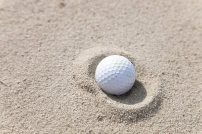 Quadro Golf Ball in Sand Trap