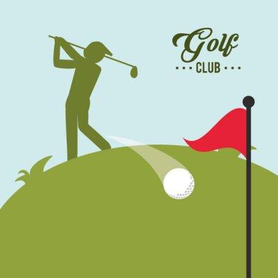 Quadro Golf icona del design