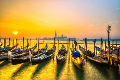 Quadro Gondole a Venezia, Italia