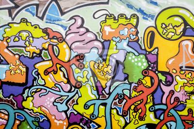 Quadro Graffiti aux couleurs vives