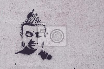 Quadro Graffiti bouddha