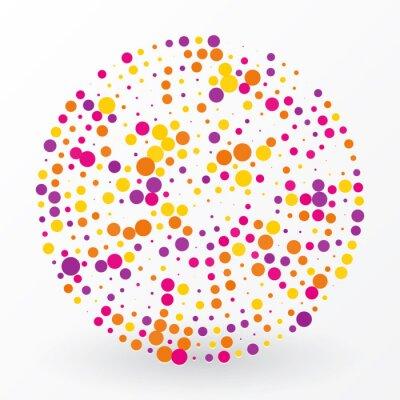 Quadro grande cerchio colorato dei piccoli pois