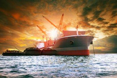 Quadro grande imbarcazione di contenitori per il settore logistico