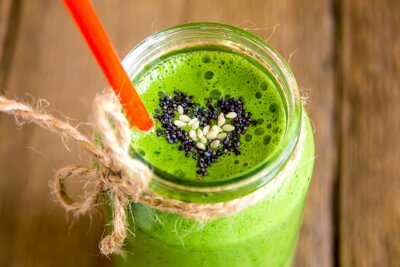Quadro Green smoothie with heart of seeds