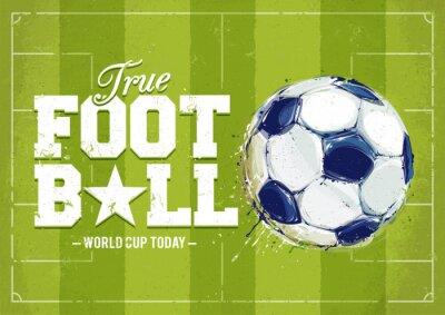 Quadro Grunge Football Poster