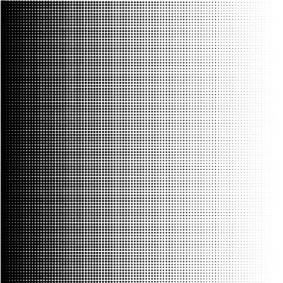 Quadro Halftone dots gradient in format vector