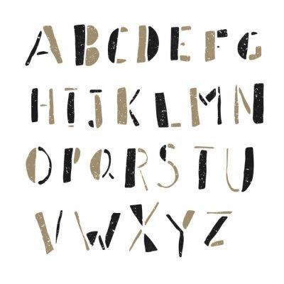 Quadro Hand-drawn Doodles Alphabet