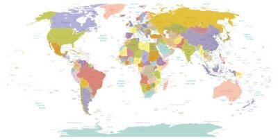 Quadro High Detail Mondo map.Layers utilizzato.