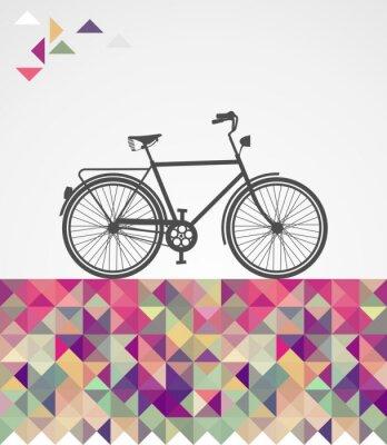 Quadro Hipsters Retro bicicletta elementi geometrici.