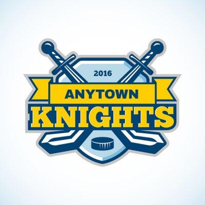 Quadro Hockey su ghiaccio cavalieri marchio della squadra.