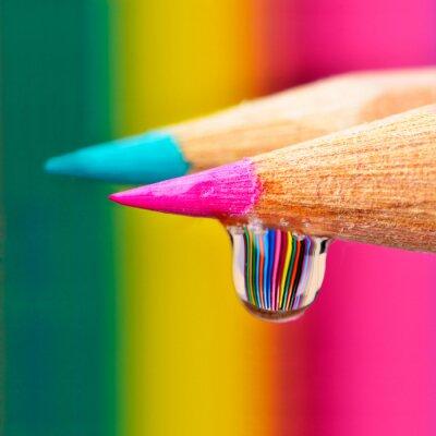Quadro I colori esplosione su una goccia