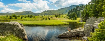 Quadro Idyllic summer landscape