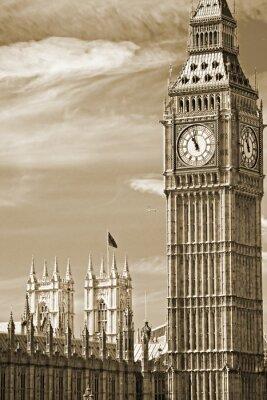 Quadro Il Big Ben, la Casa del Parlamento e il Ponte di Westminster