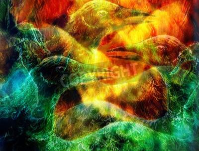 Quadro il collage Uccello di Phoenix