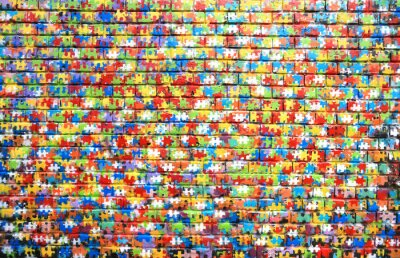 Quadro Il colore di sfondo di graffiti di strada su un muro di mattoni