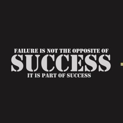 Quadro Il fallimento non è l'opposto del successo. E 'parte del successo.