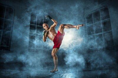 Quadro Il giovane kickboxing