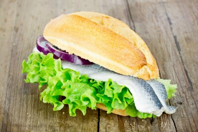 Quadro Il pesce rotola