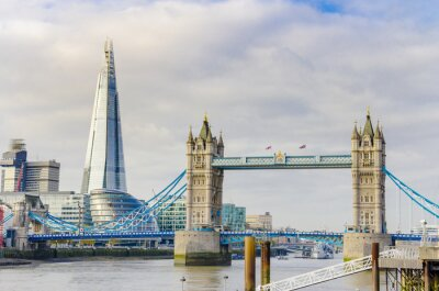 Quadro Il Ponte Shard e Torre sul fiume Tamigi a Londra, Regno Unito