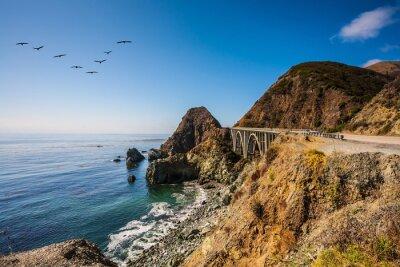 Quadro Il ponte - viadotto lungo la costa del Pacifico