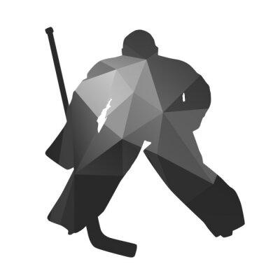 Quadro Il portiere di hockey su ghiaccio