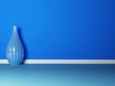 Quadro il vaso blu nella stanza blu
