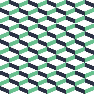 Quadro Illusione Turchese geometrico Seamless Pattern