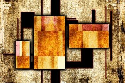 Quadro Illustrazione astratta pittura ad olio