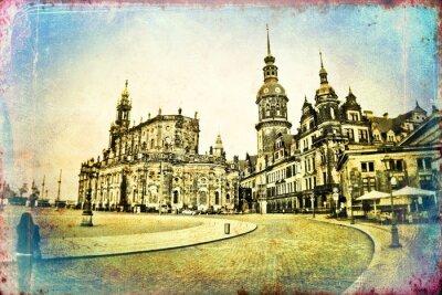 Quadro illustrazione d'epoca di Dresda