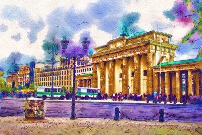 Quadro illustrazione di arte di Berlino